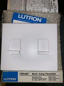 NEW LUTRON NOVA N-SS-NFB-WH Multi-Gang Faceplate