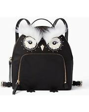 Kate Spade Owl Tomi Star Bright Nylon Black Backpack KS Boutique WKRU5690