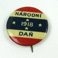 Antique 1918 Pin Button Narodni Dan National Light Kingdom of Serbs Patriotic