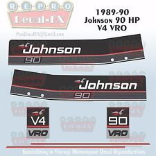 1989-90 Johnson 90 HP V4 Sea-Horse Outboard Reproduction 6 Pc Marine Vinyl Decal