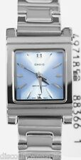 Casio LTP1237D-2A2 Ladies Stainless Steel Analog Dress Watch Blue Dial NEW 30M