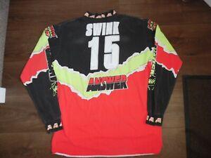 BRIAN SWINK ANSWER  AMA  1992 JERSEY VERY RARE USED SIZE XL