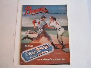 1950 BOSTON BRAVES VS ST LOUIS CARDINALS OFFICIAL PROGRAM - OFC-2