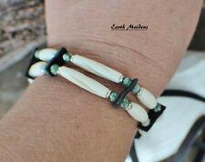 Native American Bracelet w/ Tree Agate Cherokee made William Lattie Cert Auth