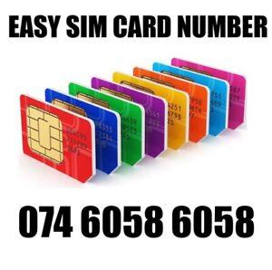 GOLD EASY VIP MEMORABLE MOBILE PHONE NUMBER DIAMOND PLATINUM SIMCARD 6058 6058