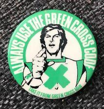 Green Cross Code Vintage selten Pin Abzeichen