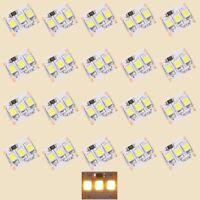 S422 - 20 Stück MINI LED Beleuchtung 1,25cm WARMWEIß Häuser Waggons RC Modelle