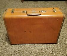 "Vintage SAMSONITE Shwayder Bros 1940's 1950's Brown 21"" suitcase luggage men's"