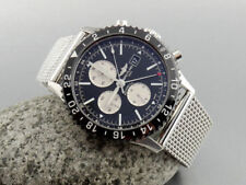 Stainless Steel Watch Band Adjustable Strap Polished 22mm fits to BREITLING