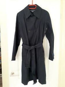 Ralph Lauren-womens navy cotton trench coat/rain coat.L/G.UK 14.Slightly used.