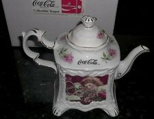Coca Cola Collector Vintage 1988 Teapot Calendar Girls 1900 Mint In Original Box