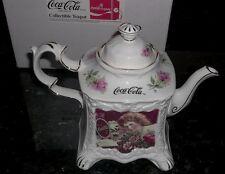 Coca Cola Collector Vintage 1988 Teapot Calendar Girls 1900 Mint In Original Box