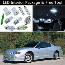 11PCS Pure White LED Interior Lights Package kit Fit 00-05 Chevy Monte Carlo J1