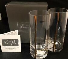 Michael Wainwright Mezza Highball Glasses Set Of 2 Gold