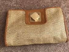 Purse Mark By Avon Small Crossbody Clutch Basket Weave Gold Clasp NWOT
