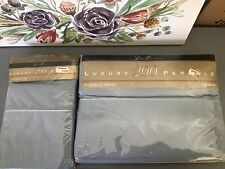 Vintage Lady Pepperell Sheets ~ (1) Full Flat+ (1) King Pillowcases Set~Lt. Blue