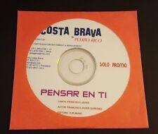 COSTA BRAVA DE PUERTO RICO / PENSAR EN TI / SINGLE PROMO CD / MINT