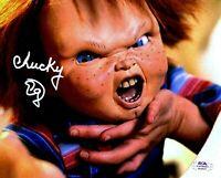 "Ed Gale autographed signed 8x10 photo Child's Play  PSA COA ""Chucky"""