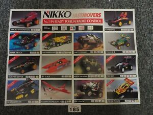 Large Vintage Double Sided Nikko Fast Movers RC Cars Shop / Wall Poster