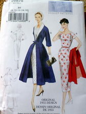 1950s VOGUE VINTAGE MODEL DRESS & COAT SEWING PATTERN 8-10-12-14-16 UNCUT