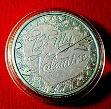 Be My Valentine Art Round 1 Troy oz..999 Fine Silver By Silver Towne Mint