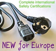 NEW 5' EU 3-Prong Europe AC Power Cord SAFE Cable for DELL/HP/IBM desktop PC PS