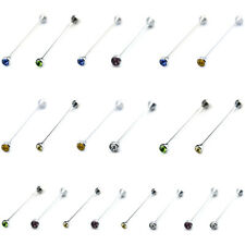 2 Packs Men Shirt Collar Pin Silver Necktie Tie Clip Bar Formal Business Brooch