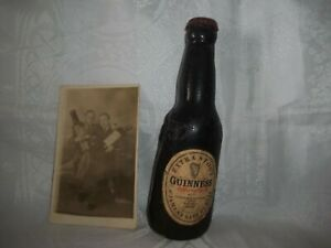 Rare 1940's Guinness Collectables, Display bottle & Original Advertisement Photo