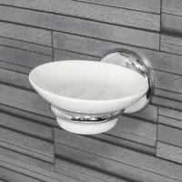 Chrome /& Glass Soap Dish Wall Mounted Holder Rack Good Quality RRP £35 Bathroom
