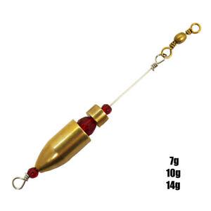 Behr Carolina Texas Rig Vorfach Raubfisch System angeln Messing Drop Shot 7-14g