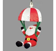 Christmas Decoration -Xmas Noise Activated Musical Parachuting Santa Father Xmas