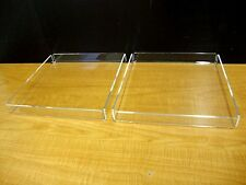 2 Acrylic Trays Pastry Bakery Donut CUPCAKE Stand Display Case