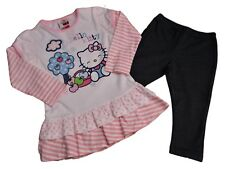 BNWOT Girls Hello Kitty top and legging outfit set clothes Age 18-23 mths  3-4 Y