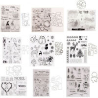 Medical Kit Pill Transparent Clear Stamps with Cutting Dies Set Diy Scrapbooking