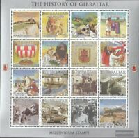 Gibraltar 914 Zd-Bogen (kompl.Ausg.) postfrisch 2000 Geschichte Gibraltars
