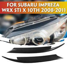 for Subaru Impreza WRX STi 08-11 Carbon Fiber Headlight Eyelids Eyebrows Cover