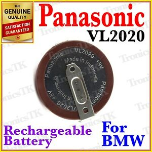 VL2020 Panasonic Rechargeable Button Coin Battery 3V - VL2020 - For Remote BMW