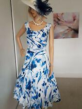 Jacques Vert Estilo Vintage Ocasión Vestido talla 18 usado una vez Inmaculada