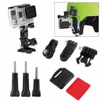 Fits GoPro HERO, Side Mount Curved Base Helmet Camera 3 Way Pivot Arm Adhesive