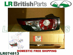 GENUINE LAND ROVER REAR LAMP CLEAR GLASS RANGE ROVER EVOQUE LH NEW LR074813