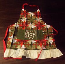 Apron Hostess Christmas/Dayspring/Share the Joy/Red Green/One Size