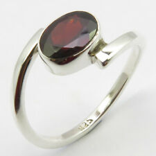 925 Silver Red Cut GARNET January Birthstone Ring # 8.25 FREE SHIPPING