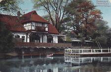 Ak Düsseldorf Fischerhaus m. Schwanenspiegel, um 1912 nach Eisern/ Siegen.