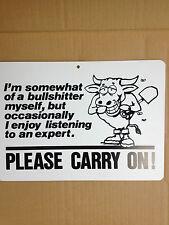 I'm Somewhat Of A BullSh*tter Funny Gift PVC Street Sign Bar Man Cave 8.5 * 12