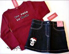 NWT Gymboree HOLIDAY PANDA Girls Shirt Skirt Skort 4 4T