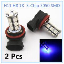 2 x Off Road Xenon Blue H8 H11 18-5050 SMD LED Fog Light DRL Driving Light Bulbs