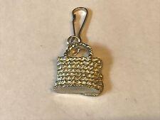 Wicker Handbag TG98 Fine English Pewter on a Zip Puller
