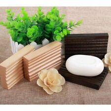 SOAP DISH RACK HOLDER PLATE ECO WOOD LIGHT TRAY BATH ESSENTIAL UK