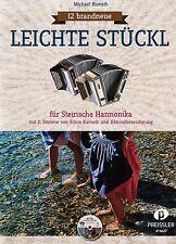 Steirische Harmonika Noten : 12 brandneue Leichte Stückl m. CD  - GRIFFSCHRIFT