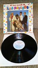 """LOS PAYASOS DE LA TELE EL LOCO MUNDO LP VINYL 12"""" 1982 SPANISH FIRST PRESS G+/VG"""
